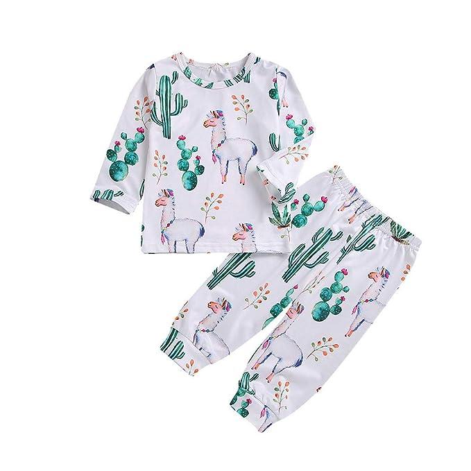 BeautyTop 3-24 Monat Baby Kleidung Set Baby M/ädchen Jungen Langarm Solid Top Hosen 2Pcs Neugeborenes Baby Kinderkleidung Baby Toddler Kinder Kleidungsset f/ür Winter