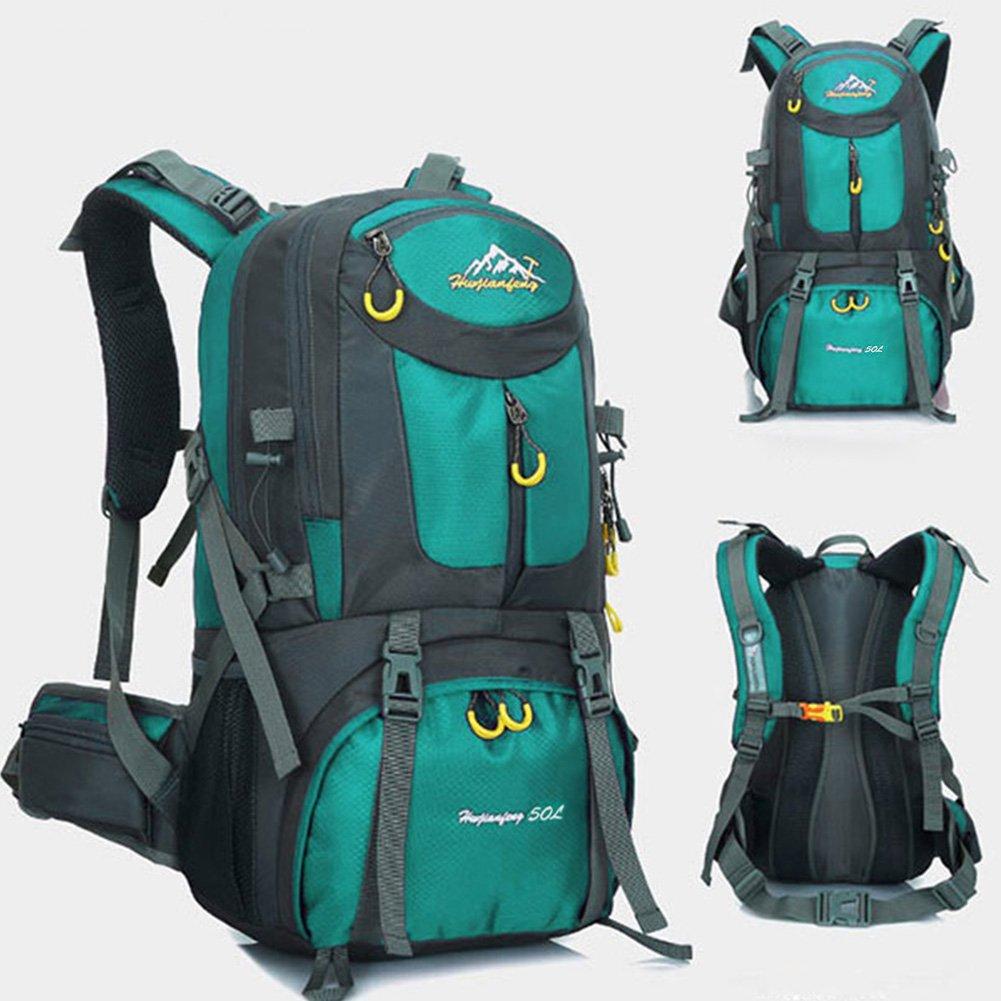 Mochila de 50 litros, ideal para deportes al aire libre, Senderismo, Trekking, Camping Travel, Escalada. Bolso impermeable del alpinismo, Daypacks que suben del recorrido, mochila, mochila. (Negro) MYMM
