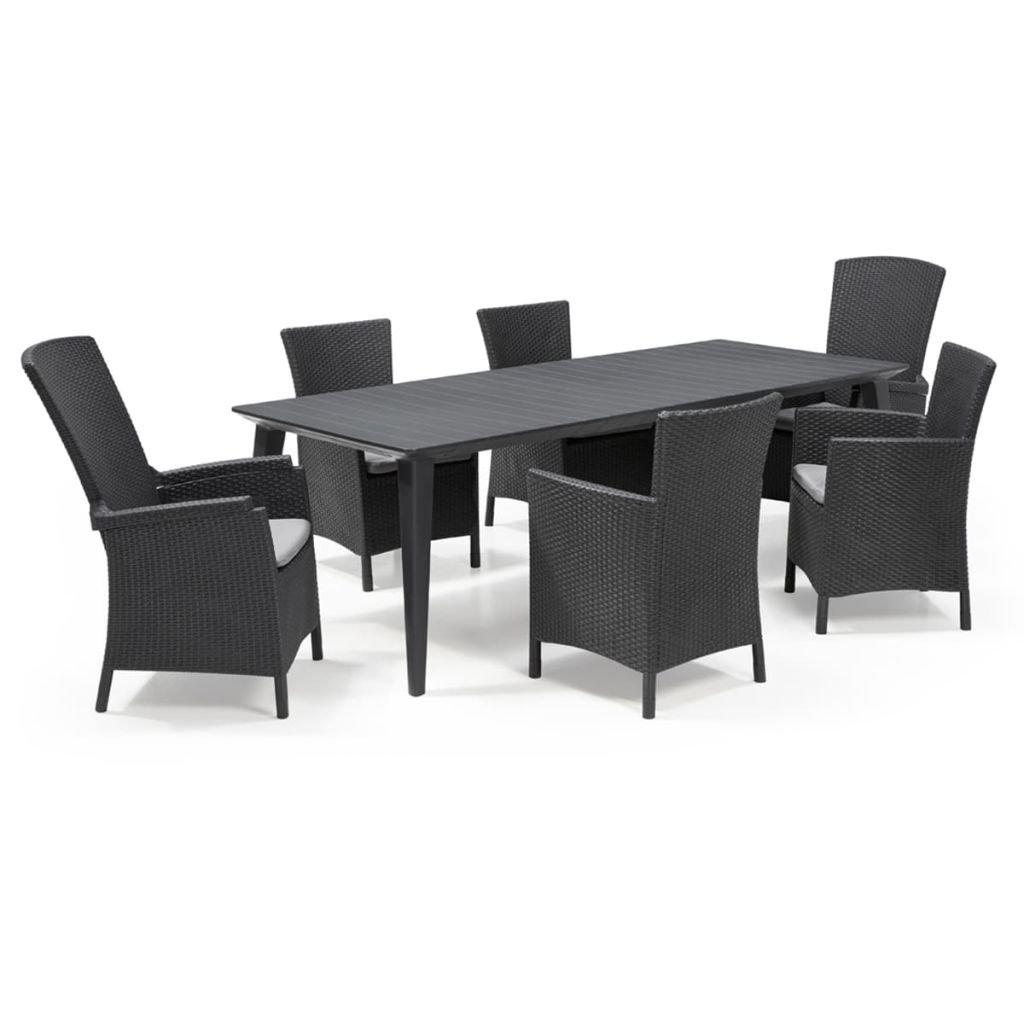 Amazon.de: Allibert 7-tlg. Gartenmöbel Set Sitzgruppe Sitzgarnitur ...