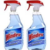 Windex Cleaners, Blue, 26 fl. oz. 2 Count (CRYSTAL RAIN)