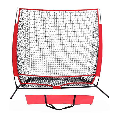 5' x 5' Baseball Softball Practice Net - Improve Your Skills at All Level, Ultimate Baseball Practice Aid by ncient