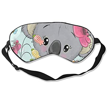 Amazon.com : Custom Sleeping Mask Cartoon Koala Butterfly ...