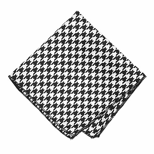 TieMart Houndstooth Pocket Square - Houndstooth Pocket
