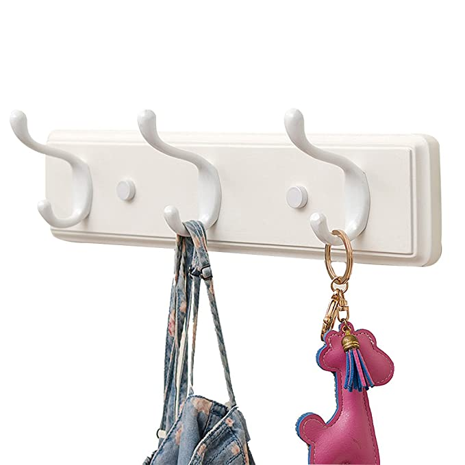 Amazon.com: COAT RACK Wall Mounted, Floating Solid Wooden Coat Hook, Creative White Wood Hat Clothes Hangers Rack, For Coat, Jacket, Hat, Purse, Scarves, ...