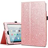 Amazon Fire HD 10 Case 2017,Kindle Fire HD10 2017 Cases,Fingic Luxury Sparkly Folio Folding Stand Cover with Holder & Auto Wake/Sleep Smart Case for Fire HD 10 inch Tablet Case,Rose Gold