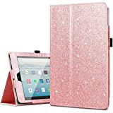 10 inch tablet covers - Amazon Fire HD 10 Case 2017,Kindle Fire HD10 2017 Cases,Fingic Luxury Sparkly Folio Folding Stand Cover with Holder & Auto Wake/Sleep Smart Case for Fire HD 10 inch Tablet Case,Rose Gold