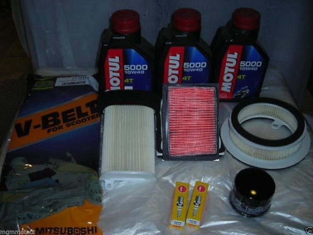 UFI 4 REPLACEMENT FILTERS KIT COMPLETE YAMAHA T-MAX 500 2008 2010 CANDLES OIL FILTER STRAP MG Kit