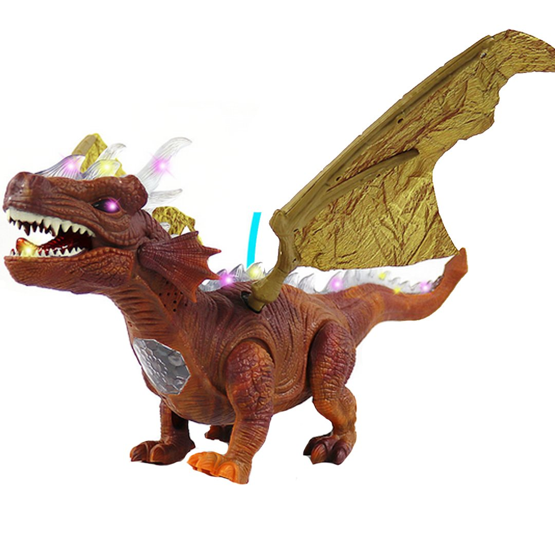 Meliya Model Dinosaur Toys Electronic Walking Pterosaurs Toy, Roar, Light up, Wings Vibration