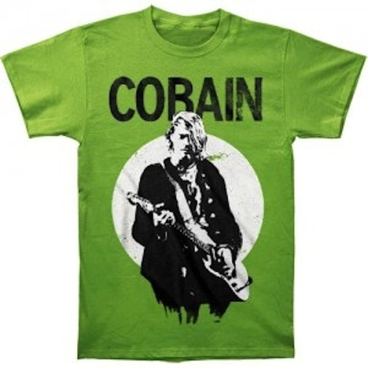Ill Rock Merch Nirvana - Kurt Cobain Standing Guitar Photo T-Shirt