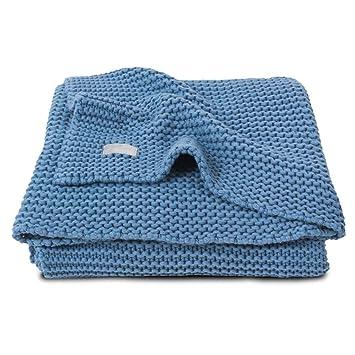 Jollein 516 - 511 - 65087 Baby Colcha de punto (Heavy Knit Azul 75 x 100 cm: Amazon.es: Bebé