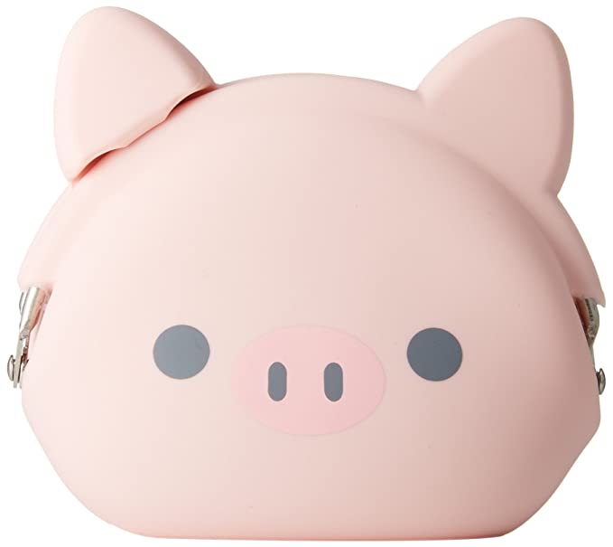 P+G Design Mimi POCHI Friends Silicone Coin Purse, Pig - Cute Change Pouch for Money, Makeup and Hair Accessories - Authentic Japanese Design - ...