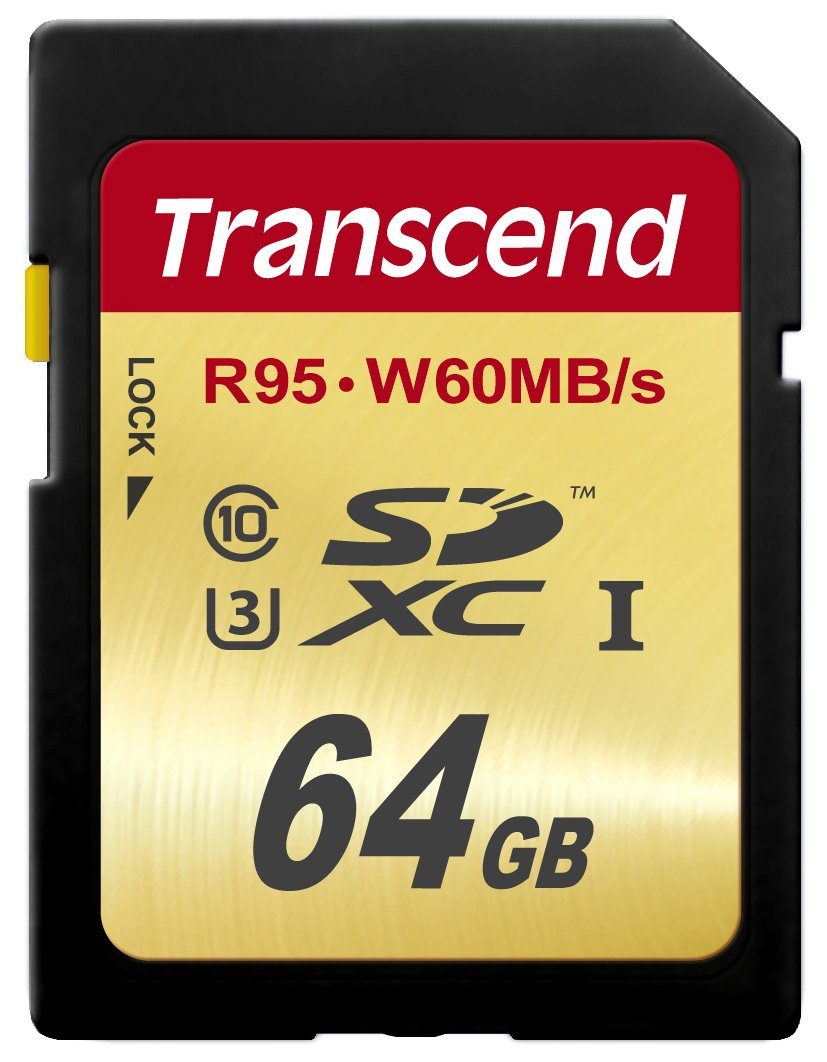 Transcend 64 GB High Speed 10 UHS-3 Flash Memory Card 95/60 MB/s (TS64GSDU3) by Transcend