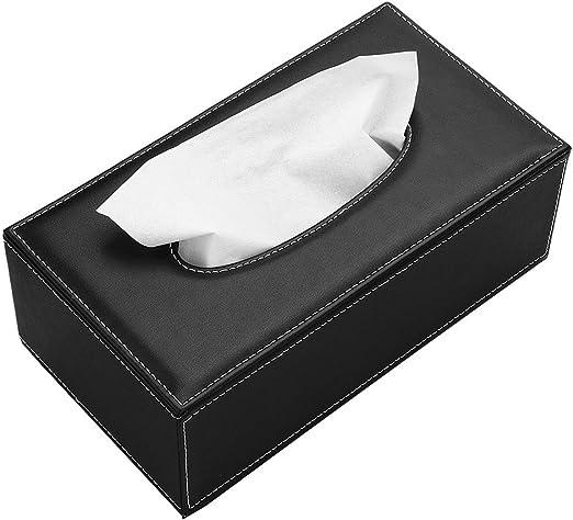 Tissue Holder Storage Napkin Box Dispenser Bathroom Paper Cover PU Leather