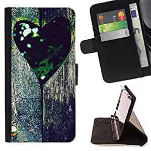 Jordan Colourful Shop - Love Retro Tree Heart For Apple Iphone 4 / 4S - Leather Case Absorci???¡¯???€????€??????????