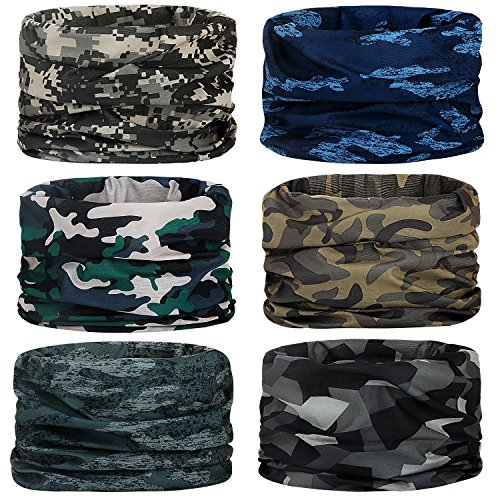 Headwear,Head Wrap, Neck Gaiter, Headband, Fishing Mask, Magic Scarf, Tube Mask, Face Bandana Mask, Neck Balaclava and Sport Scarf 12 in 1 Headband Sweatband for Fishing, Hiking, Running, - What Camping For You Do Need