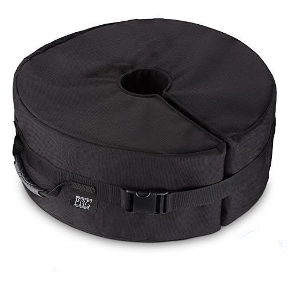 """Umbrella Base Weight Bag Round 20"""" Premium Home XL Heavy Duty Fill Sand up to 150 lbs, Fits Any Outdoor Patio, Offset, Market, Cantilever Umbrella Stand, Universal Set, UV/Weather Proof. Easy Set up"""