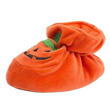 Zapatos de bebé, ASHOP Niña Niño Casuales Zapatillas del Otoño Invierno Suela Suave de la Calabaza de la Multitud de Halloween Deporte Antideslizante del ...