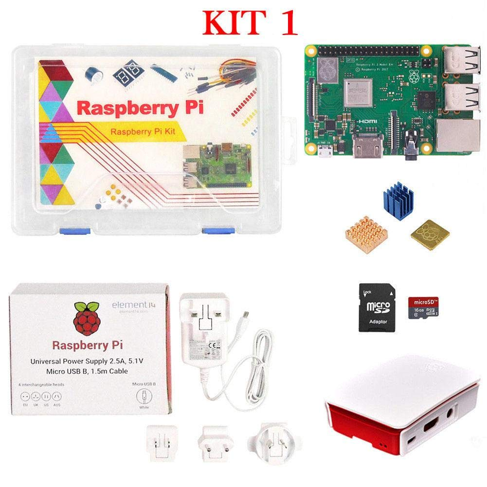Eruditter Raspberry Pi 3 Modello B + (B Plus) Quad 1, 4 GHz WiFi Bluetooth Starter Kit Advanced 4