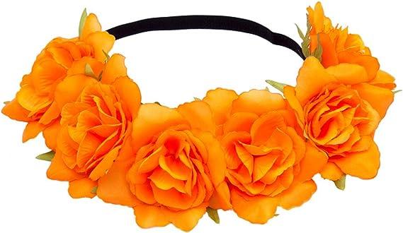 Halloween Haarband Gothik Rot Rose Blume Schwarz Spitze Haarreif Stirnband Damen