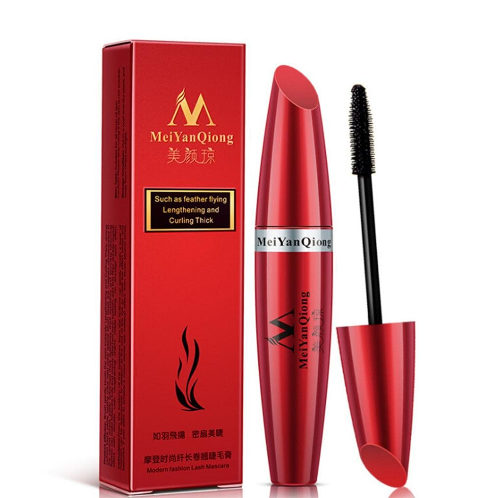 Amazon.com: ❤JPJ(TM)❤ Women Mascara,Girls 3D Fiber Mascara Long Waterproof Black Lash Eyelash Extension Eye Makeup Tool (Red): Home & Kitchen