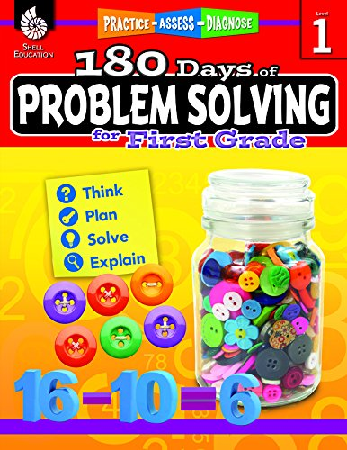 180 Days of Problem Solving for First Grade (180 Days of Practice) cover