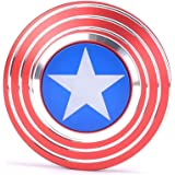 Fidget Hand Spinner, Cubier Captain America Shield Fidget Spinner Anti-Anxiety Stress Relief EDC ADD ADHD Anxiety and Autism for Adult & Children