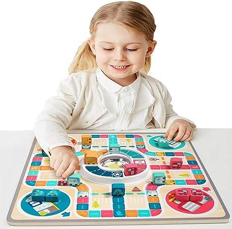 LILUN6 Juego de Mesa 2 en 1, Tablero, ajedrez Volador + ajedrez volcánico, Adecuado para Adultos y niños, Juegos Familiares, se Puede Usar como Regalo: Amazon.es: Hogar