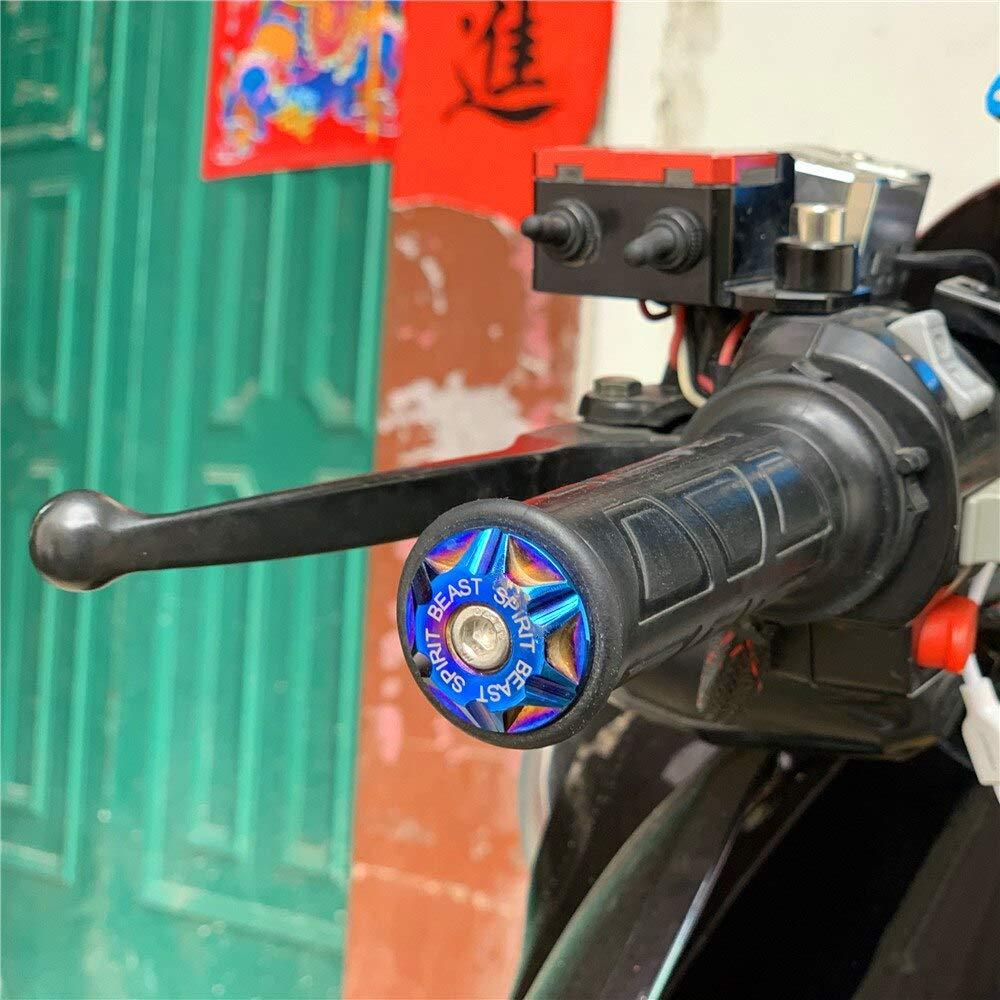 Spirit Beast Motorcycle Handlebar Ends Bar Grips Caps For Inner 13-20mm Universal Motorbike Dirt Bike Bicycle Honda Yamaha