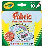 Arts & Crafts : Crayola Fine Line Fabric Markers, 10 Count ,3-sets