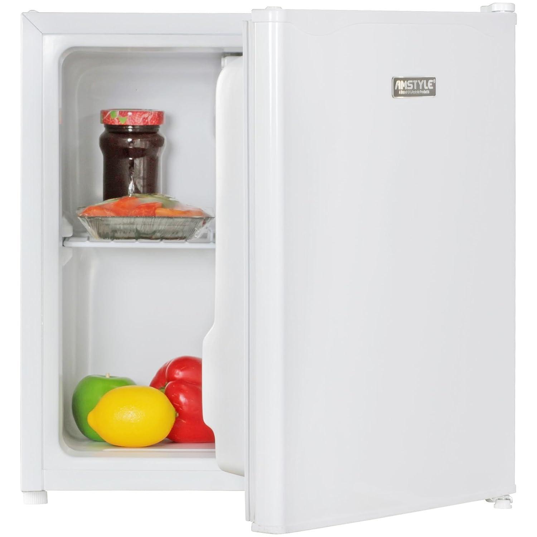 AMSTYLE Minikühlschrank EEK A+ 50L mit Gefrierfach weiß Türanschlag ...