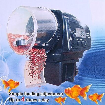 Anself Alimentador Digital automático / manual de pescados del acuario Alimentación con LCD temporizador