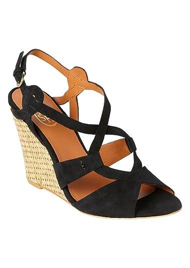 b8bf7012fe9ac1 Ash - Jade Bis Wedge - Black, 36: Amazon.co.uk: Shoes & Bags