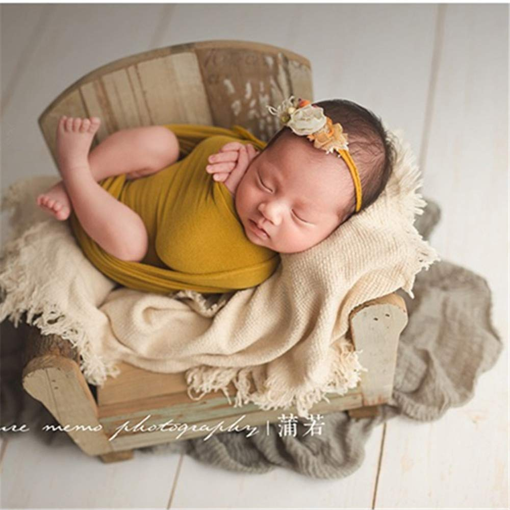 Dvotinst Newborn Photography Props for Babies Baby Posing Retro Chair Cute Mini Wooden Sofa Accessorio Studio Shoot Photo Props by DVOTINST (Image #2)