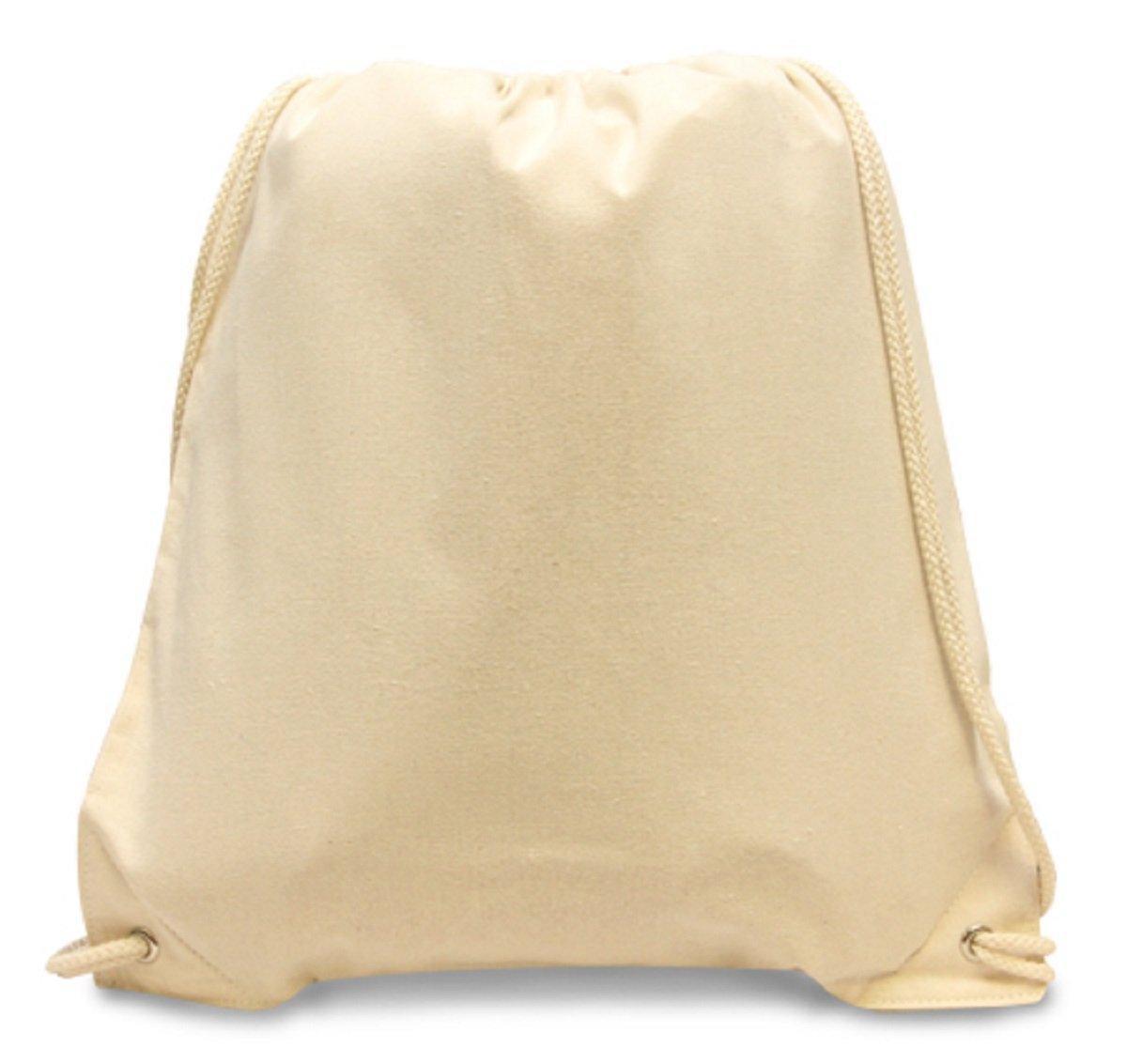 COTTON CANVAS DRAWSTRING, Natural, Case of 72 by DollarItemDirect