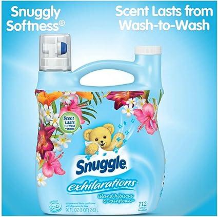 Amazon.com: Snuggle Exhilarations Island Hibiscus & Rainflower Concentrated Liquid Fabric Softener, 96 Oz, 112 Loads: Kitchen & Dining