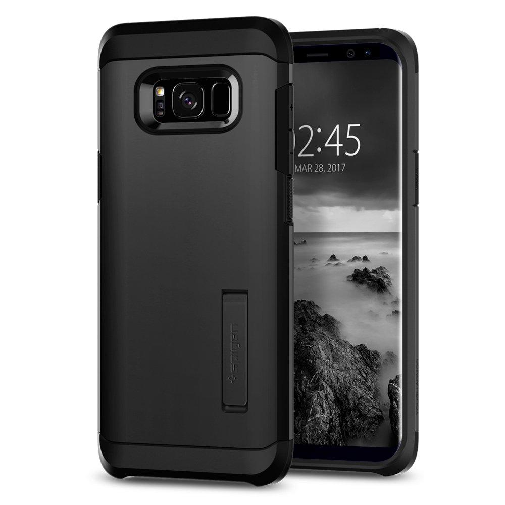 size 40 0d916 8e180 Spigen Tough Armor Designed for Galaxy S8 Plus Case (2017) - Black