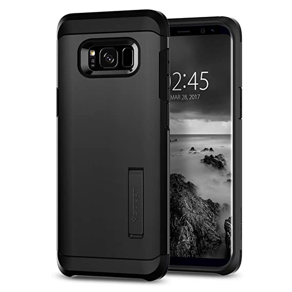 size 40 2b694 d9eed Spigen Tough Armor Designed for Galaxy S8 Plus Case (2017) - Black