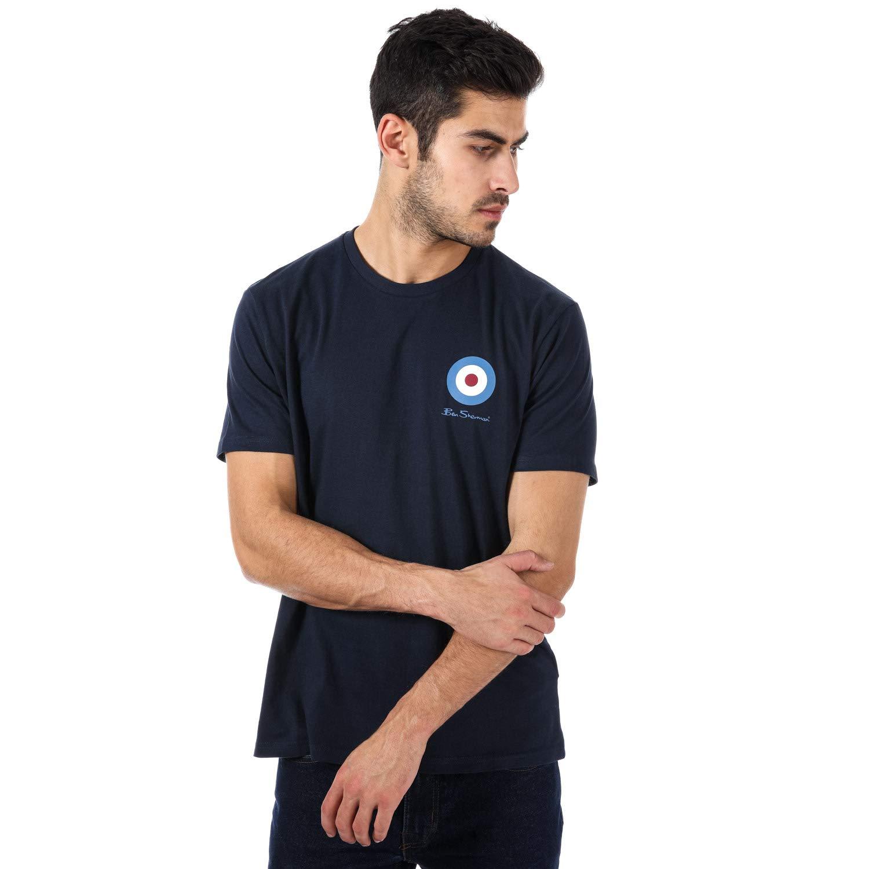 cc9a3fbcc Ben Sherman Mens Medium Target Logo T-Shirt in Navy- Short Sleeve- Ribbed: Ben  Sherman: Amazon.co.uk: Clothing