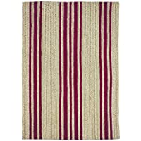 Jute Braided Rug 27 x 45/Rectangle/Red