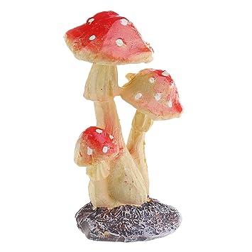 Fliegenpilz PILZE Rot Harz Garten Ornamente Figuren Micro Gartendeko Deko