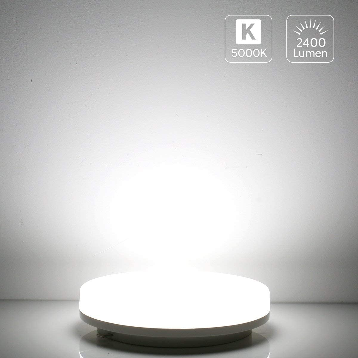 Bedroom Living Room LE Flush Mount Ceiling Light Fixture Waterproof IP54 LED Ceiling Lights for Bathroom 8.7 Inch 15W 100W Equivalent Hallway Porch 1250lm Non Dimmable Ceiling Lamp for Kitchen