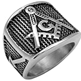 Solid Stainless Steel Freemasonry Master Masonic Ring