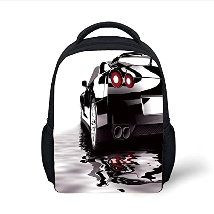 2842a21391ae Amazon.com: iPrint Kids School Backpack Cars,Modern Black Car with ...
