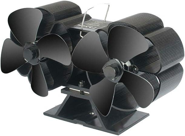 XIONGG Estufa Ventilador, Estufas De Leña, Madera, Registro Burner, Caja Eco Friendly Estufa De Calor del Ventilador Accionado para Chimeneas: Amazon.es: Hogar