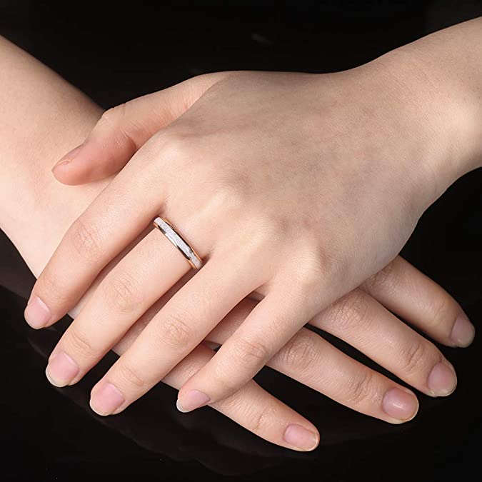 star AVA ring grey mother-of-pearl PetitSoukBoutik golden stainless steel woman/'s ring