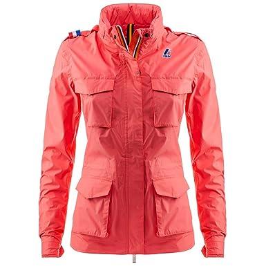 a9657949f38b K-Way - Blouson - Femme rose Peach Georgia XL  Amazon.fr  Vêtements ...