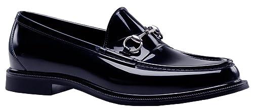 Gucci Hombres Azul de Goma Horsebit Zapatos de Loafer: Amazon.es: Zapatos y complementos