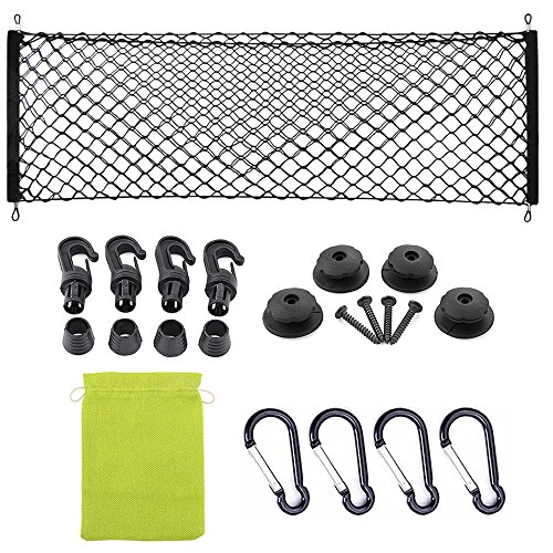 AndyGo Envelope Style Trunk Cargo Net for Ford Fusion 2013 2014 2015 2016 2017 - Trunk Ford