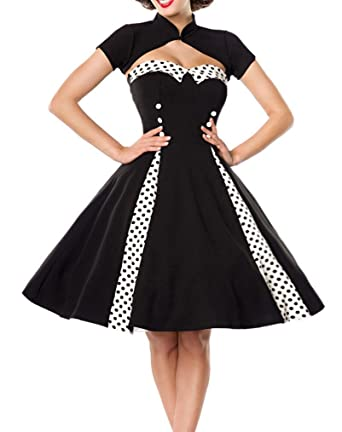 newest 48b80 6d6cf Unbekannt Ausgestelltes Rockabilly Kleid mit Stehkragen und ...