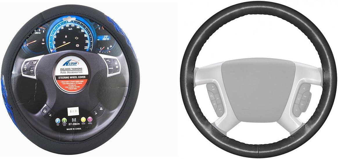 Nero balikha 2x Coprivolante In Gomma Universale Con Coperchio Antipolvere Per Auto Con 110x65mm